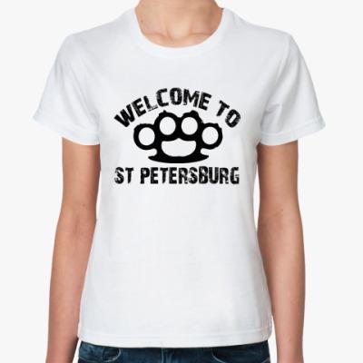 Классическая футболка  футболка WELCOME