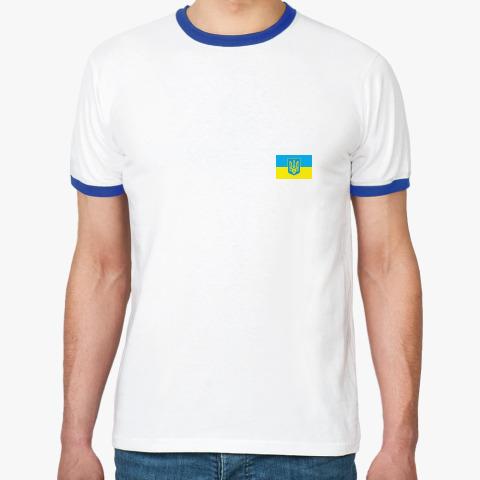 095c9662c167 Футболка Ringer-T мужская, бел/синий