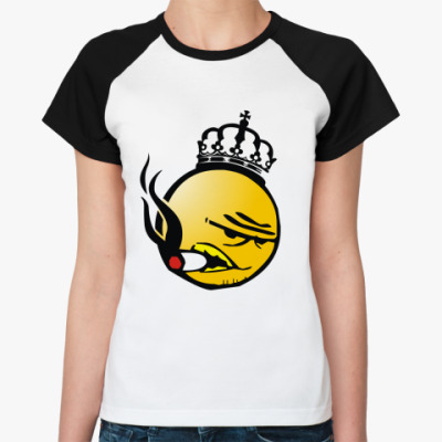 Женская футболка реглан Brainfucker