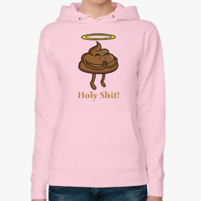 Женская толстовка худи Holy shit