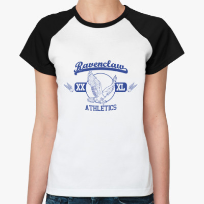 Женская футболка реглан Ravenclaw