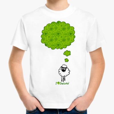 Детская футболка Овечка, мечтающая об Ирландии