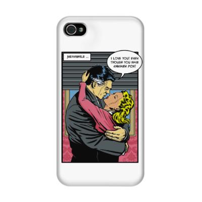 Чехол для iPhone 4/4s Страница из ретро комикса
