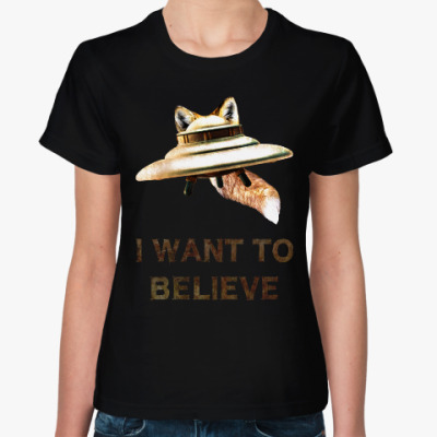 Женская футболка Fox Flying Object