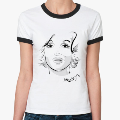 Женская футболка Ringer-T Marilyn Monro