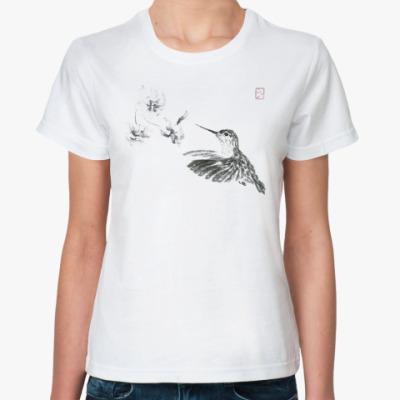Классическая футболка Колибри