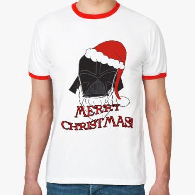 Футболка Ringer-T Christmas Vader