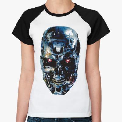 Женская футболка реглан Терминатор Т-800