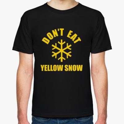 Футболка No yellow snow