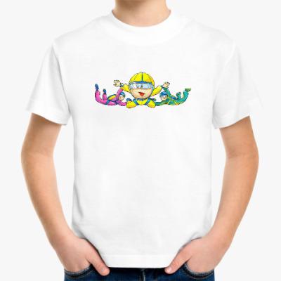 Детская футболка для настоящего парашютиста