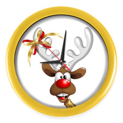 Настенные часы Часы, желтые (без цифр)