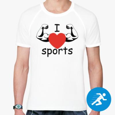Спортивная футболка I love sports