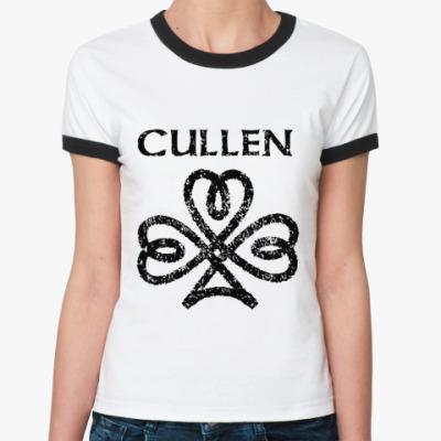 Женская футболка Ringer-T Cullen sign