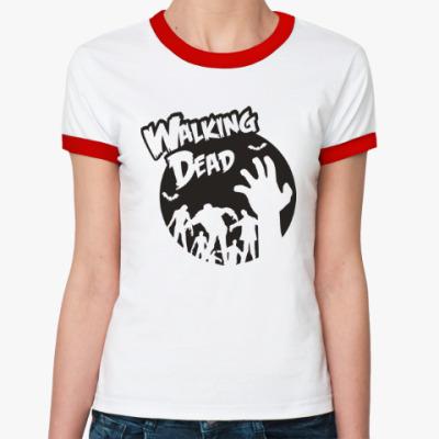Женская футболка Ringer-T Ходячие мертвецы