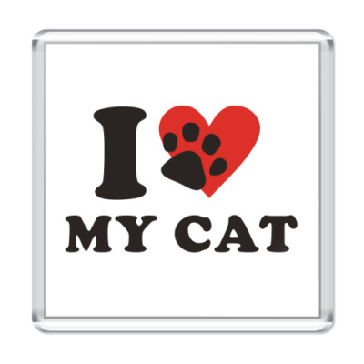 Магнит Я люблю свою кошку