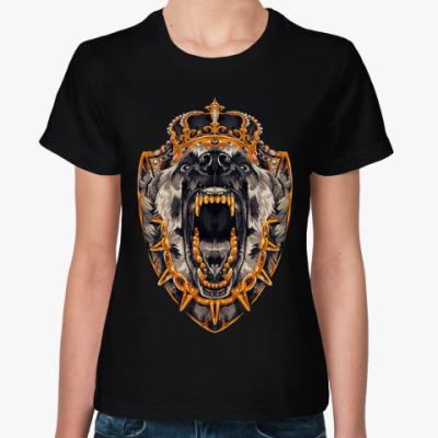 Женская футболка Оскал