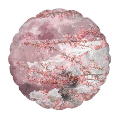 Подушка Японская сакура весной