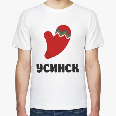 Футболка логотип города Усинск