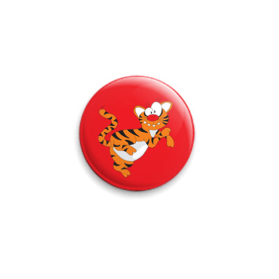 Значок 25мм Funny tiger