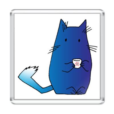 Магнит  Синий кот