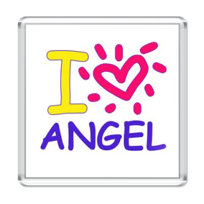 Магнит Supernatural - I love Angel