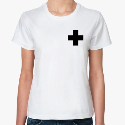 Классическая футболка  «Черный Крест»