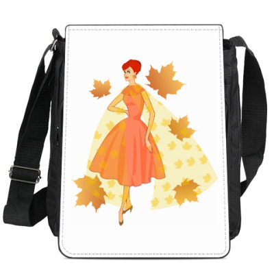 Сумка-планшет Девушка осень в стиле 50-х