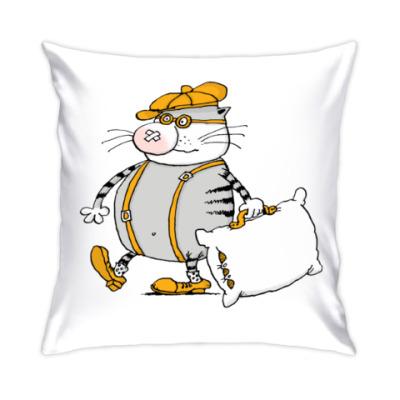 Подушка кот Трюндель с подушкой