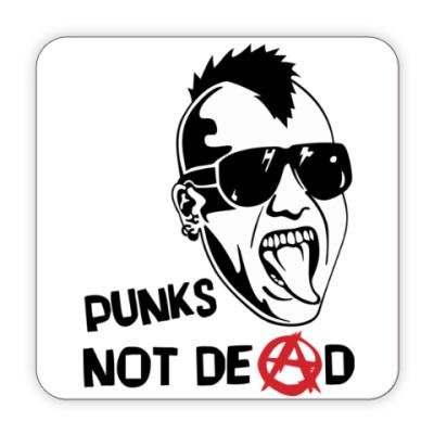 Костер (подставка под кружку) Punks not dead