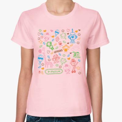 Женская футболка Веселые персонажи для беззаботных людей