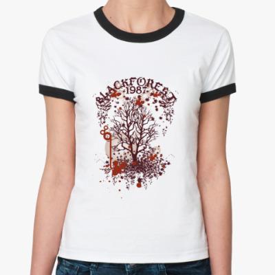 Женская футболка Ringer-T Blackforest