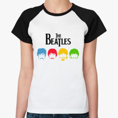 Женская футболка реглан Beatles