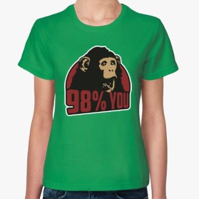 Женская футболка 98% тебя