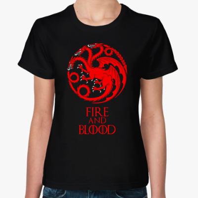 Женская футболка Дом Таргариенов - House Targaryen