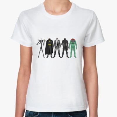 Классическая футболка Tim Burton's heroes
