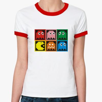 Женская футболка Ringer-T Pac-Man