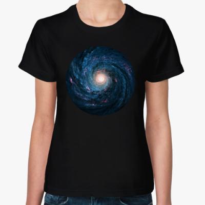 Женская футболка космос - space
