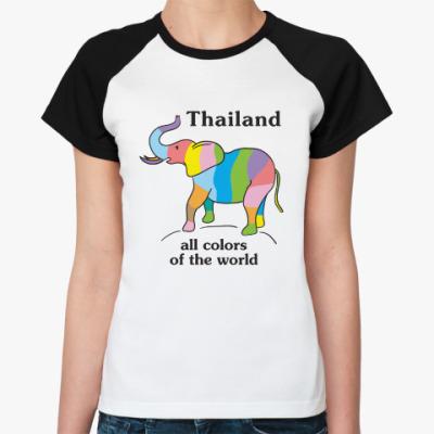 Женская футболка реглан Пусть Таиланд всегда будет с вами!