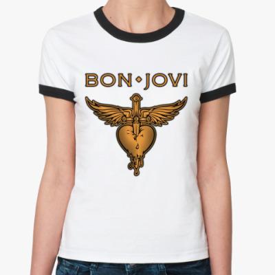 Женская футболка Ringer-T Bon Jovi