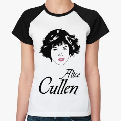 Женская футболка реглан Alice Cullen