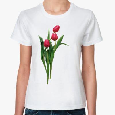 Классическая футболка Тюльпаны