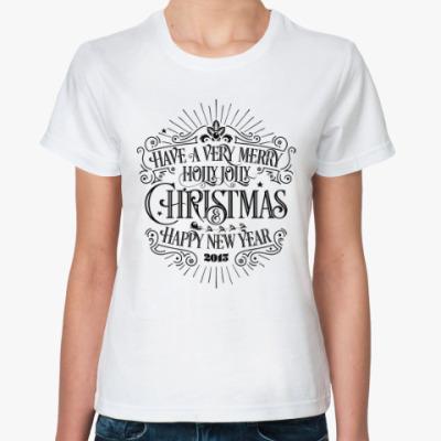 Классическая футболка Новый 2015 год (овцы, козы)