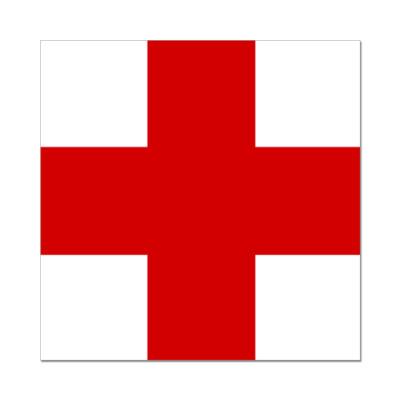 наклейка красный крест купить