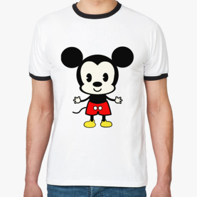 Футболка Ringer-T Mickey Mouse