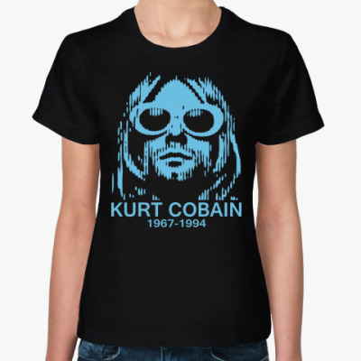 Женская футболка  футболка Kurt Cobain