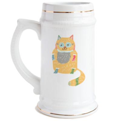 Пивная кружка Котик