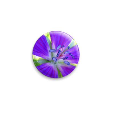 Значок 25мм  Фиолетовый цветок