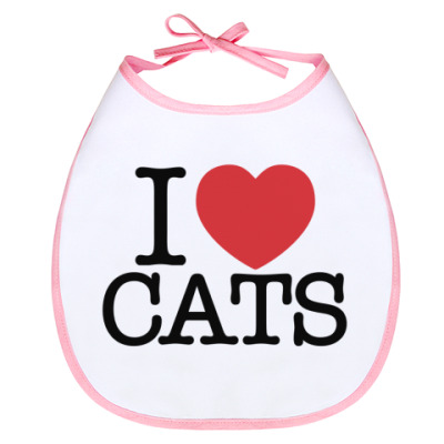 Слюнявчик i love cats!