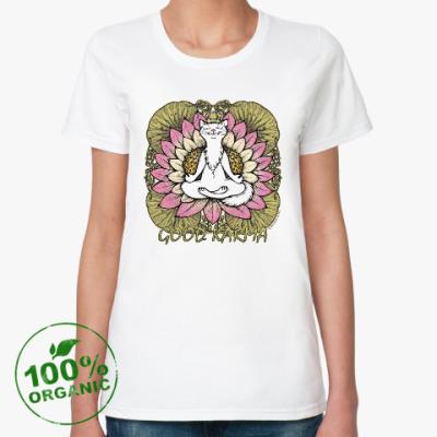 Женская футболка из органик-хлопка Хорошая карма