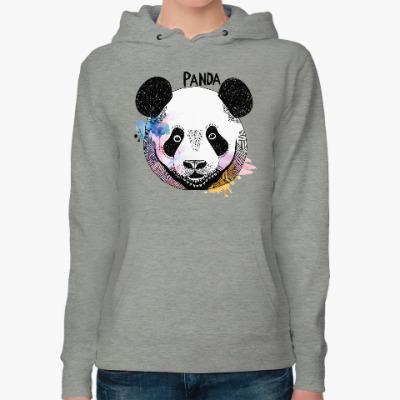 Женская толстовка худи Panda
